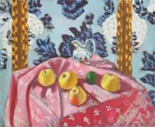 Натюрморт с яблоками на розовой скатерти - Матисс, Анри