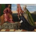 Папа Александр VI представляет святому Петру епископа Пафоса Якопо Пезаро - Тициан Вечеллио