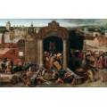 Изгнание торговцев из храма - Брейгель, Питер (Старший)