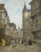 Улица Сен-Ромен в Руане - Буден, Эжен