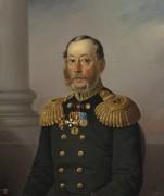 Портрет вице-адмирала С.С. Нахимова. 1864 (брат адмирала Павла Нахимова) - Васильев А.А.