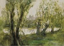 Пейзаж с видом на Бурж - Лапрад, Пьер