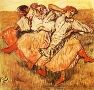 Три русских танцора - Дега, Эдгар