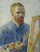 Автопортрет перед мольбертом (Self Portrait as a Painter (Self Portrait in Front of the Easel), 1888 - Гог, Винсент ван