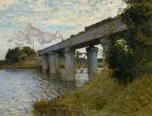 Железнодорожный мост в Аржантее, 1874,  [2] - Моне, Клод