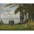 Пейзаж с тремя женщинами, 1890 - Буден, Эжен