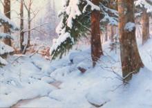 Зимний день в лесу - Морас, Вальтер