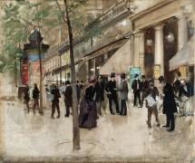 Монмартрский бульвар, у входа в варьете - Беро, Жан