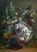 Букет цветов в вазе - Курбе, Гюстав