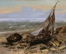 Рыбацкая лодка на берегу - Курбе, Гюстав
