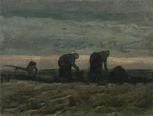 Две крестьянки на поле (Two Peasant Women in the Peat Fields), 1883 - Гог, Винсент ван