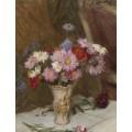 Натюрморт с ромашками и васильками в кувшине, 1940 - Клаузен, Джордж