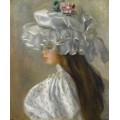 Девушка в белой шляпке, 1892 - Ренуар, Пьер Огюст