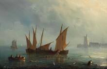 Рыбная ловля в лунном свете - Гюден, Анриетта Эрминия