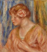 Девушка с розой в волосах - Ренуар, Пьер Огюст