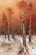 Зимний пейзаж с грачами - Клевер, Юлий Юльевич