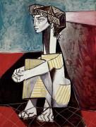 Портрет Жаклины со сложенными руками - Пикассо, Пабло