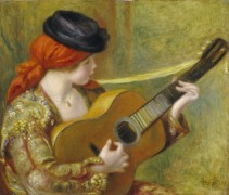 Испанская гитаристка - Ренуар, Пьер Огюст