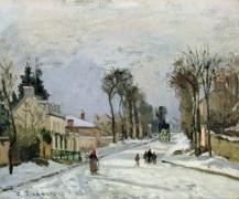 Дорога в Версаль в Лувесьене - Писсарро, Камиль