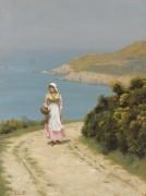 Девушка на берегу моря - Лейтон, Эдмунд Блэр