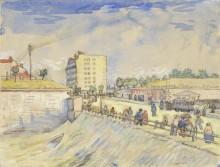 Ворота парижского крепостного вала (Gate in the Paris Ramparts), 1887 - Гог, Винсент ван