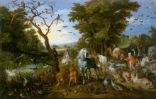 Заселение животных в Ноев ковчег - Брейгель, Ян (Старший)