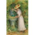 Девушка у фонтана, 1885 - Ренуар, Пьер Огюст