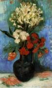 Ваза с гвоздиками и другими цветами (Vase with Carnations and Other Flowers), 1886 - Гог, Винсент ван