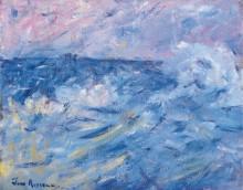Бурное небо и море, Бель-Иль, берега Бретани -  Рассел, Джон Питер