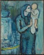 Мать с ребенком у фонтана - Пикассо, Пабло