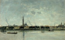 Вид на Антверпен - Буден, Эжен