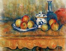 Натюрморт с яблоками, графином и сахарницей - Сезанн, Поль