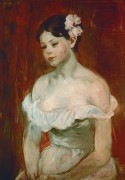 Портрет молодой женщины - Моризо, Берта