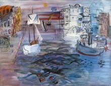 Парусник в порту - Дюфи, Рауль