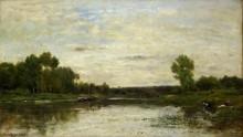 Пейзаж на Уазе - Добиньи, Шарль-Франсуа