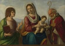 Мадонна с младенцем и святыми - Конельяно, Чима да