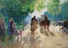 Булонский лес, аллея с всадниками - Монтезен, Пьер-Эжен
