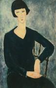 Молодая женщина в синем платье - Модильяни, Амадео