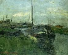 Канал с баржами, 1881 - Энсор, Джеймс