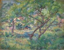Дом художника за деревьями, 1909 -  Бюхр, Карл Альберт