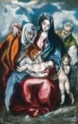 Святое Семейство со святой Анной и маленьким Иоанном Крестителем - Греко, Эль
