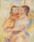 Прачка с ребенком - Ренуар, Пьер Огюст