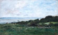 Берег моря в Виллервиле - Добиньи, Шарль-Франсуа