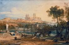 Вид на Линкольнский кафедральный собор из Холмса - Тернер, Джозеф Мэллорд Уильям