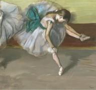 Отдыхающая танцовщица, 1879 - Дега, Эдгар