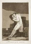 Капричос. Каприз №10. «Любовь и смерть» (Офорт) - Гойя, Франсиско Хосе де