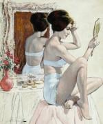 Девушка, укладывающая волосы - Сарноф, Артур