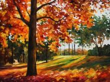 Осенний лес - Афремов, Леонид (20 век)