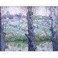 Фруктовый сад в цвету и тополя (Orchard in Bloom with Poplars), 1889 - Гог, Винсент ван