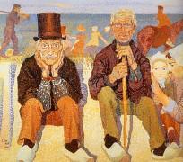 1900  John toorop  Badauds du bord de mer  Huile sur Toile    130x150 cm  Rotterdam - Тороп, Ян